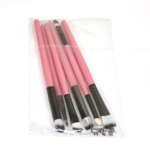 Set of 6 Makeup Brushes Pink NWT